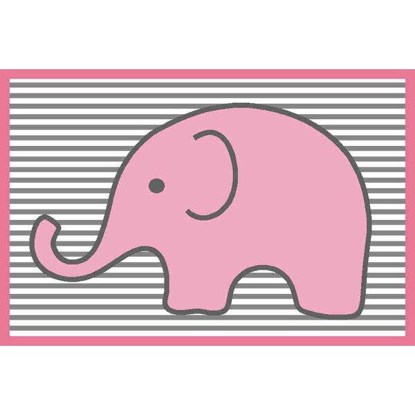 Yasmeen Pink/Grey Kids Rug by Viv + Rae