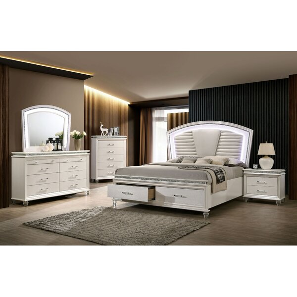 Serio Upholstered Storage Configurable Bedroom Set by Everly Quinn