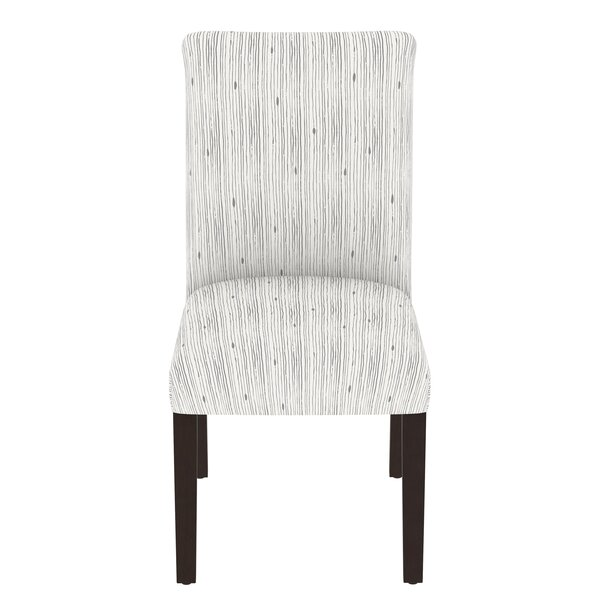 Karen Cotton Upholstered Parsons Chair In Gray By Brayden Studio