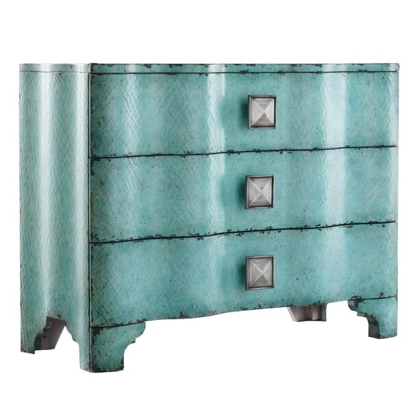Melange Crackle 3 Drawer Chest by Hooker Furniture Hooker Furniture