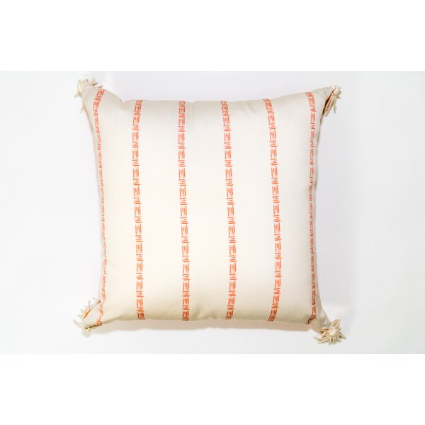 Bamboo Print Square Outdoor Throw Pillow by Jiti