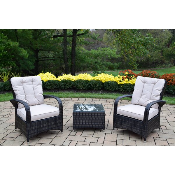 Borneo 3 Piece Conversation Set with Cushions by Oakland Living