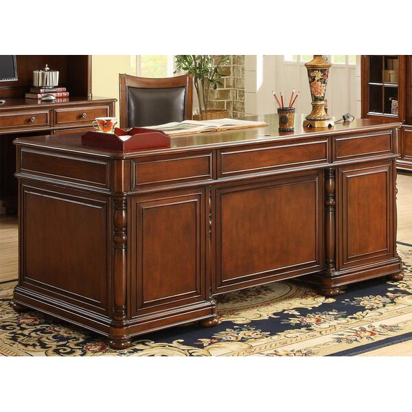 Finnerty Executive Desk with 7 Drawers by Darby Home Co