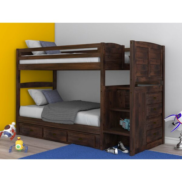 Goffredo Twin Over Twin Bunk Bed with Drawers by Birch Lane™ Heritage