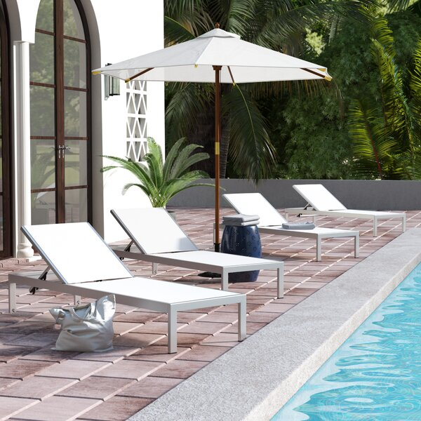 Coline Reclining Chaise Lounge (Set of 4)