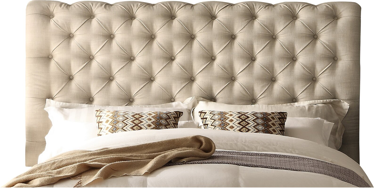 Mulhouse Furniture Calia Queen Upholstered Panel Headboard
