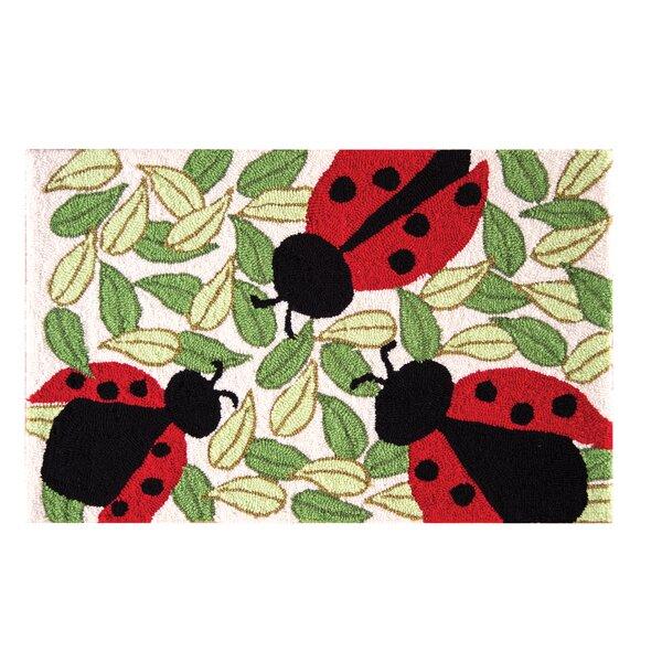 Guffey Ladybugs Parfait Red Area Rug by August Grove