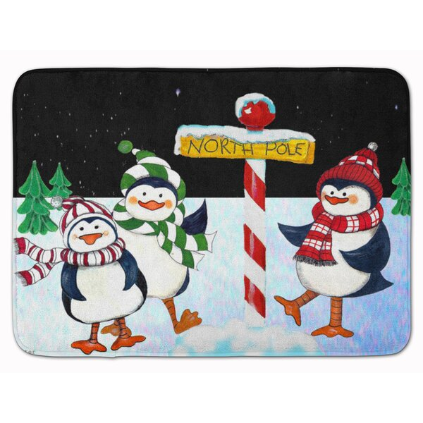 Welcome North Pole You Penguins Memory Foam Bath Rug by The Holiday Aisle