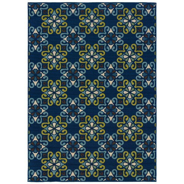 Newfield Blue/Green Indoor/Outdoor Area Rug by Threadbind