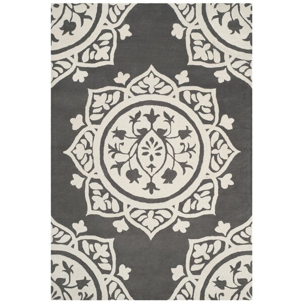 Romford Hand-Tufted Gray Area Rug by House of Hampton