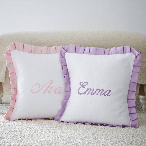 Monogrammed Cotton Pillow Cover by Birch Lane Kids™