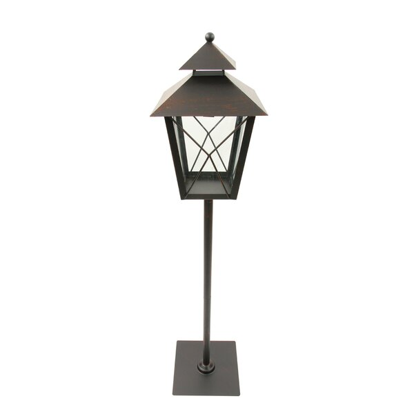 Metal/Glass Holiday Pillar Christmas Lantern by Northlight Seasonal