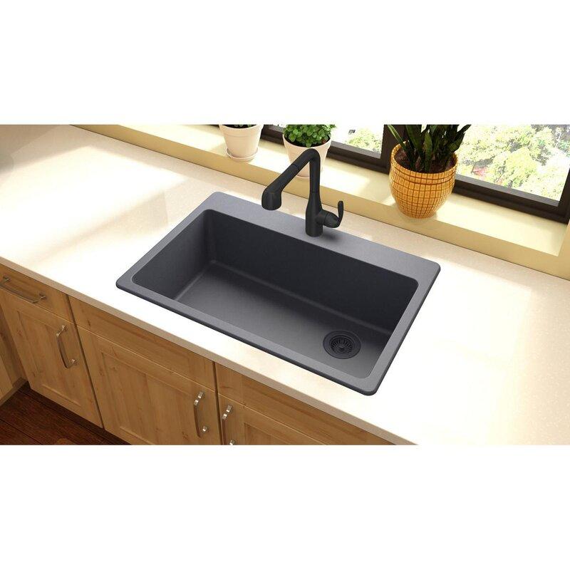 quartz classic 33   x 22   top mount kitchen sink elkay quartz classic 33   x 22   top mount kitchen sink  u0026 reviews      rh   wayfair com