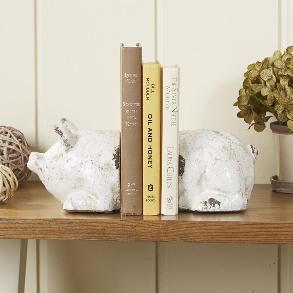 Spotted Pig Bookends by Birch Lane™