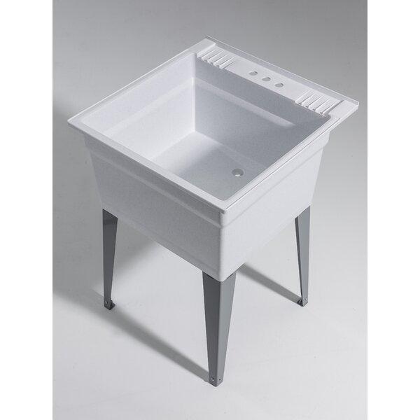 Heavy Duty 23.75 x 24.75 Freestanding Laundry Sink by Cashel