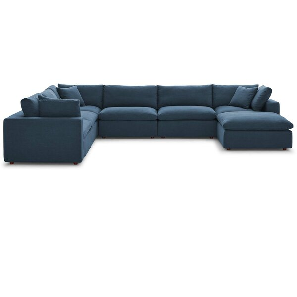 Coats Overstuffed Modular Sectional with Ottoman by Trule Teen