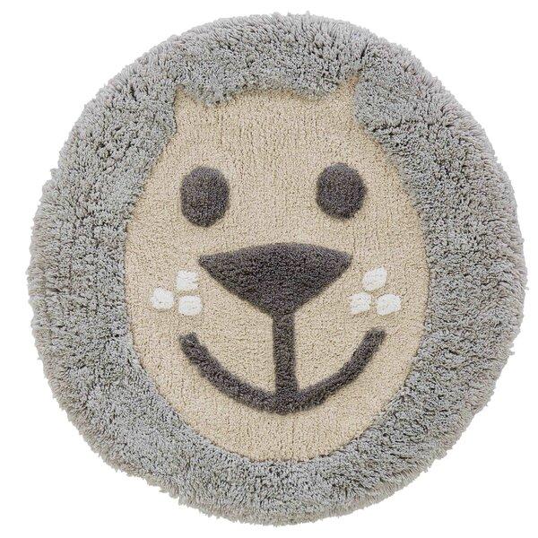 Vowell Circle 100% Cotton Animal Print Bath Rug