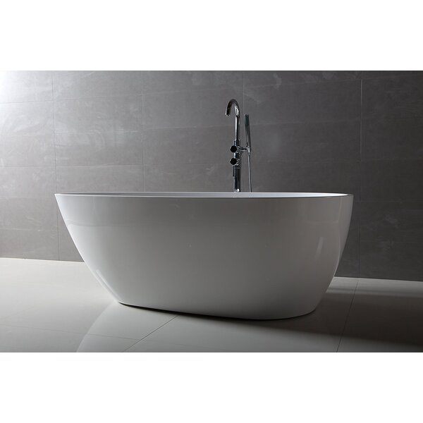 Maria 59 x 30 Freestanding Soaking Bathtub by Dyconn Faucet