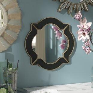 Willa Arlo Interiors Black/Gold Resin Wall Mirror