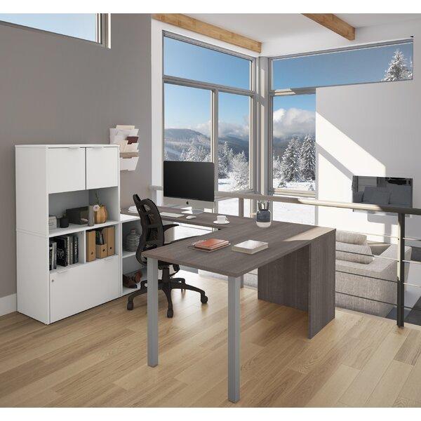 Prattsburgh U-Shape Executive Desk with Hutch by Brayden Studio