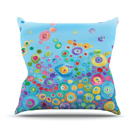 Inner Circle by Catherine Holcombe Outdoor Throw Pillow by East Urban Home