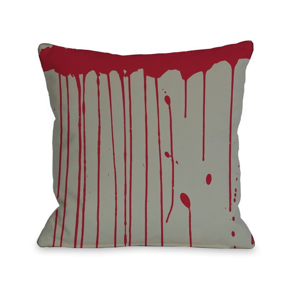 Dripping Blood Lumbar Pillow by One Bella Casa