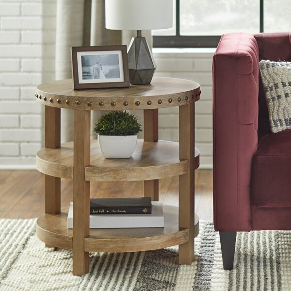 Sansa Solid Wood 4 Legs End Table By Gracie Oaks