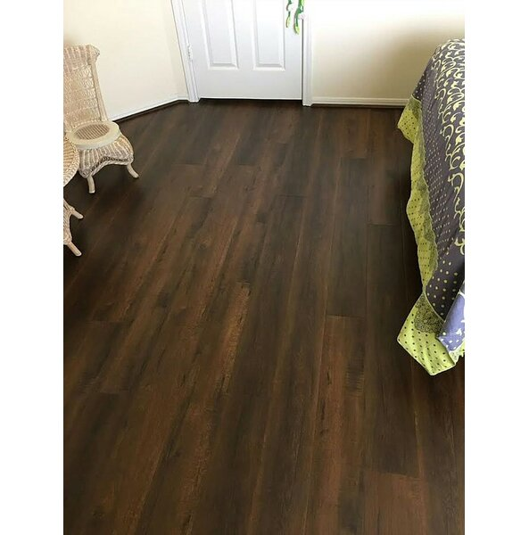 7 x 48 x 12mm Mahogany Laminate Flooring in Mystery Forest by Yulf Design & Flooring