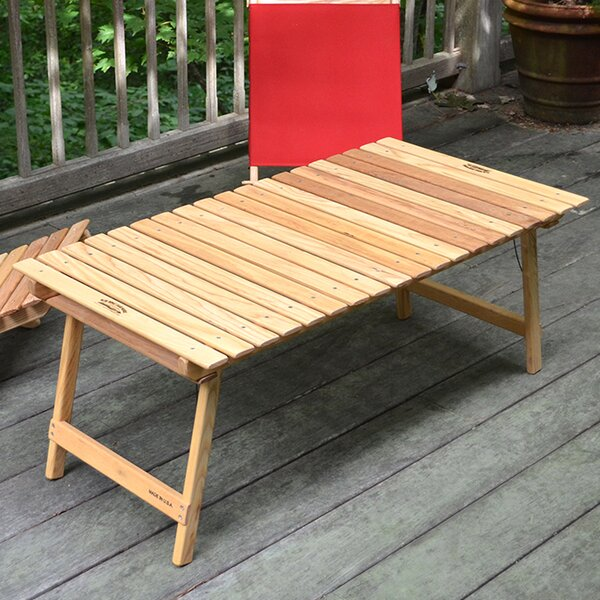 Mares Folding Wooden Coffee Table by Charlton Home