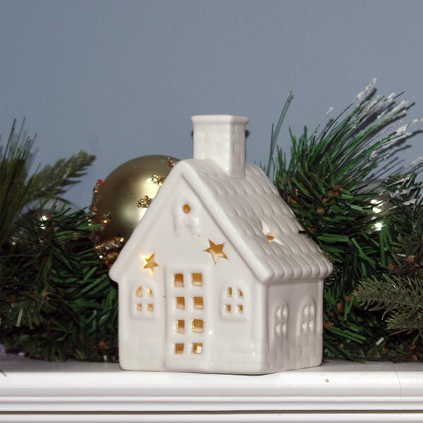Christmas LED Lighted Ceramic House by The Holiday Aisle