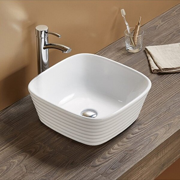 Ceramic Square Vessel Batroom Sink