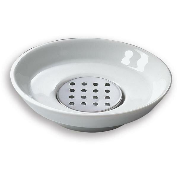 Mahurin Countertop Saver with Drain Porcelain Soap Dish by Latitude Run