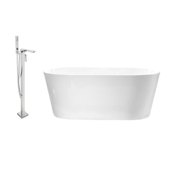 58 x 30 Freestanding Soaking Bathtub by Streamline Bath