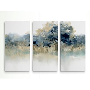 'Waters Edge II' Acrylic Painting Print Multi-Piece Image on Wrapped Canvas by Alcott Hill