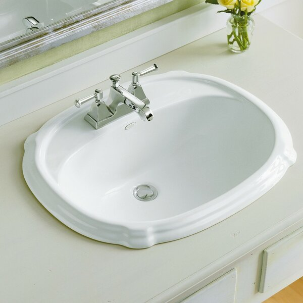 Portrait® Ceramic Oval Drop-In Bathroom Sink with Overflow by Kohler