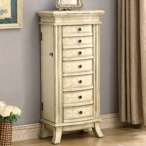 Panek Free Standing Jewelry Armoire by One Allium Way
