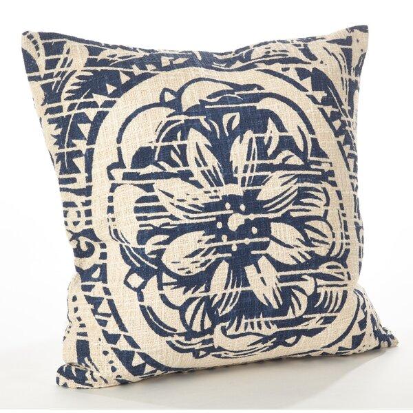 Montpellier Floral Cotton Throw Pillow by Saro