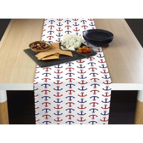 Espana Nautical Anchors Milliken Signature Table Runner by Breakwater Bay