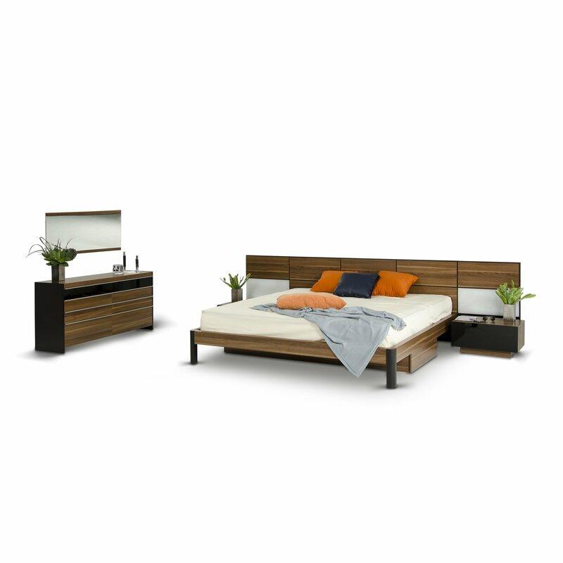 Cooke King Platform 5 Piece Bedroom Set