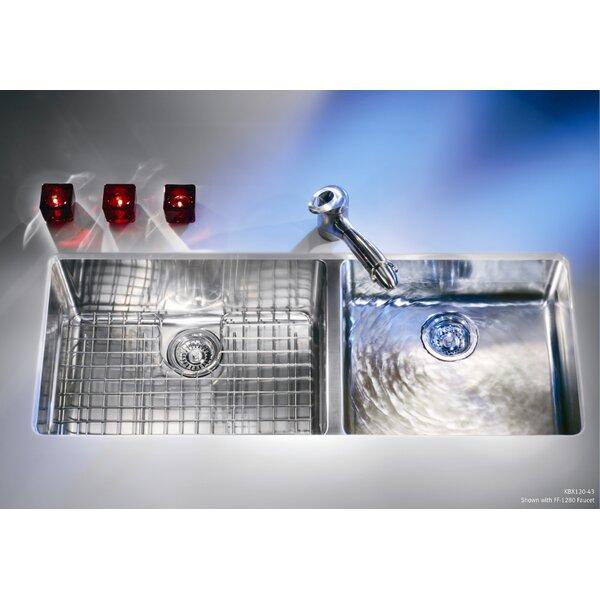 Kubus 43 L x 18 W Undermount Double Basin Kitchen Sink by Franke