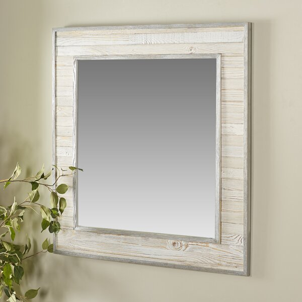 Lexington Wood Square Wall Mirror by Rosecliff Heights