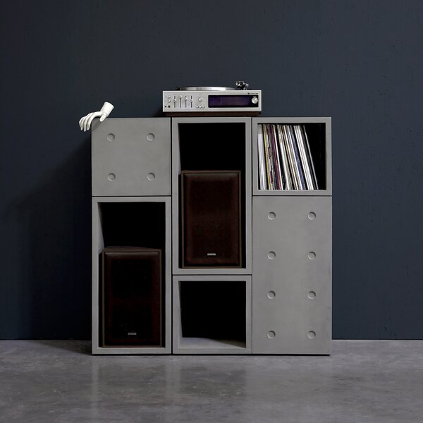 Dice Geometric Bookcase By Lyon Beton