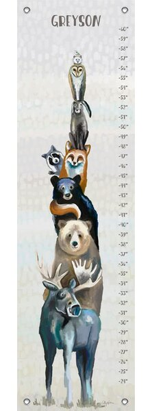 Woodland Buddies Personalized Growth Chart by Oopsy Daisy