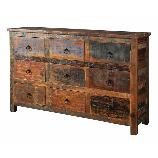 Lance Reclaimed Wood 9 Drawer Accent Chest by World Menagerie