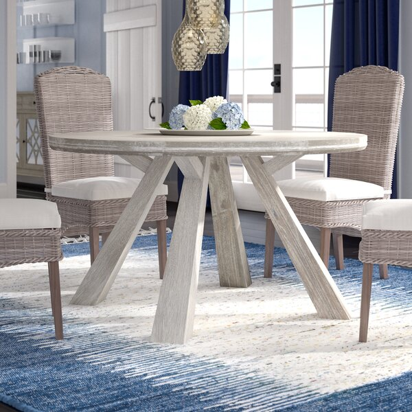 Haynes Round Dining Table by Breakwater Bay