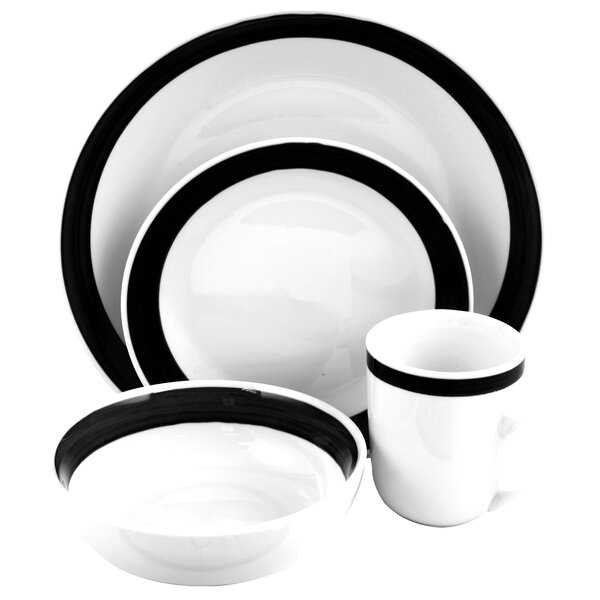 Schley 16 Piece Dinnerware Set, Service for 4 by Charlton Home