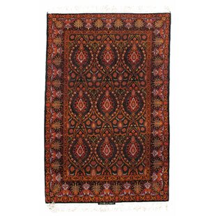 Reviews One-of-a-Kind Persian Isfahan Korker Hand-Knotted Wool/Silk Orange/Black Area Rug By Pasargad NY