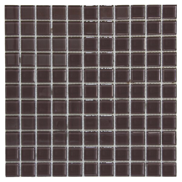 Crystal 1 x 1 Glass Mosaic Tile in Light Purple by Crystalcor USA
