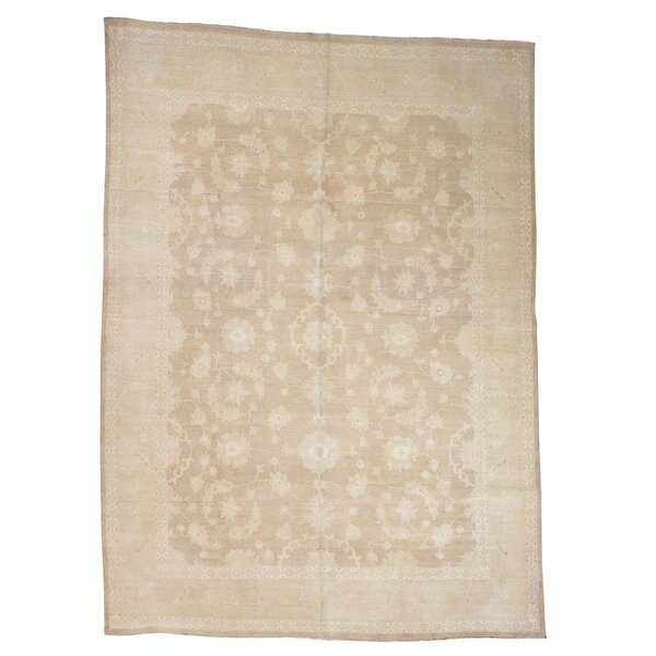 One-of-a-Kind Bagby Overdyed Lilihan Vintage Hand-Knotted Sesame Area Rug by Isabelline