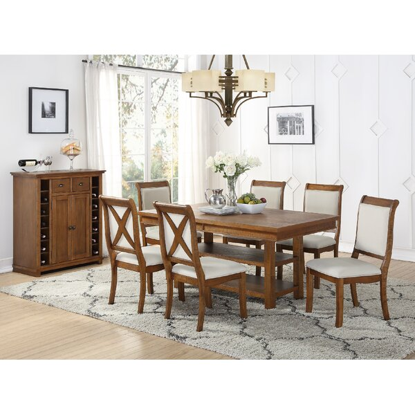 Courtland 7 Piece Dining Set by Rosecliff Heights